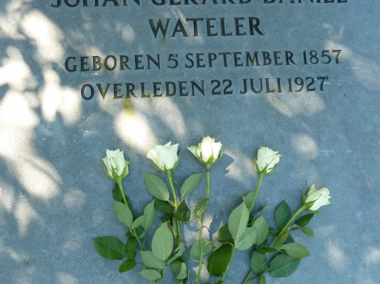 10. Watelers tomb stone at the cemetery of Oud Eik en Duinen in The Hague
