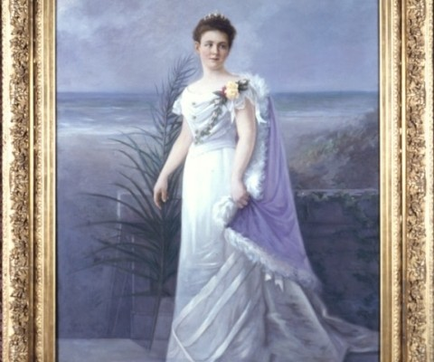 9. Queen Wilhelmina, Wateler honoured the queen in his poems, portrait of Jan ten Kate, 1900.